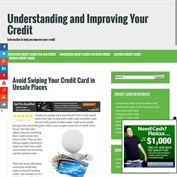 Unsafe Places to Swipe Your Credit Cards