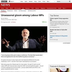 Unseasonal gloom among Labour MPs