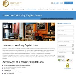 Unsecured Working Capital Loans - Crestmont Capital