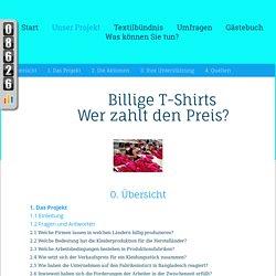Unser Projekt - billige T-Shirts - Wer zahlt den Preis?