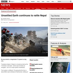 Unsettled Earth continues to rattle Nepal - BBC News