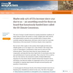 Maybe only 15% of CO2 increase since 1750 due to us – an unsettling result for those on board that luxuriously funded liner called the SS Climate Consensus.
