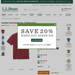 Carefree Unshrinkable Tee, Traditional Fit - LL Bean Intl