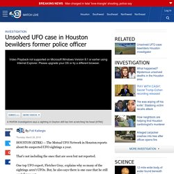 Unsolved UFO case in Houston bewilders former police officer