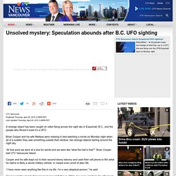 Unsolved mystery: Speculation abounds after B.C. UFO sighting