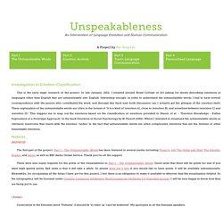 Unspeakableness