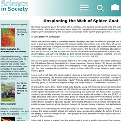 Unspinning the Web of Spider-Goat