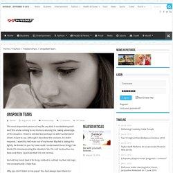 Unspoken tears – 99Whoop.com