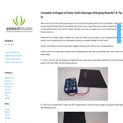 Unstable Voltages of Solar Cells Damage Charging Boards? A Tip 4 U.