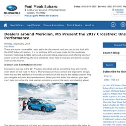 Dealers around Meridian, MS Present the 2017 Crosstrek: Unstoppable Performance