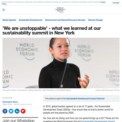 'We are unstoppable' - what we learned at our sustainability summit in New York