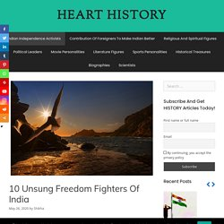 Konw about Top 10 Freedom Fighters Of India