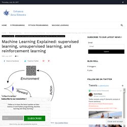 Machine Learning Explained: supervised, unsupervised, and reinforcement learning
