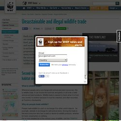 WWF: Unsustainable and illegal wildlife trade