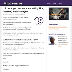 19 Untapped Network Marketing Tips, Secrets, and Strategies