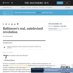 Baltimore's real, untelevised revolution
