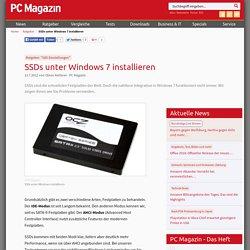 SSDs unter Windows 7 installieren