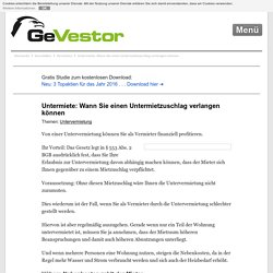 Untermiete: Wann Sie einen Untermietzuschlag verlangen können › GeVestor