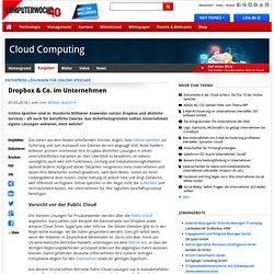 Enterprise-Lösungen für Online-Speicher: Dropbox & Co. im Unternehmen