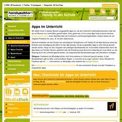 Apps im Unterricht – Fächerübergreifend