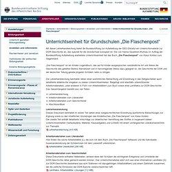 """Unterrichtseinheit für Grundschulen """"Die Flaschenpost"""""""