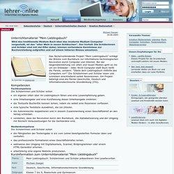 """Unterrichtsmaterial """"Mein Lieblingsbuch"""""""