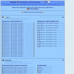Deutsch | kostenlose Arbeitsblätter & Unterrichtsmaterial | 8000 Übungen, Arbeitsblätter, Rätsel, Quiz, Tests, Puzzles, Aufgaben, Lernposter, Kopiervorlagen, Unterrichtsmaterial, Lehrmittel | allgemeinbildung.ch