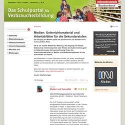 Medien: Unterrichtsmaterial und Arbeitsblätter für die Sekundarstufen