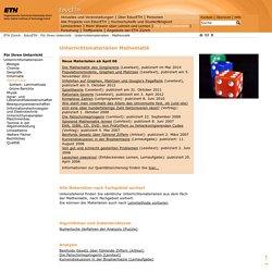 ETH - EducETH - Unterrichtsmaterial Mathematik