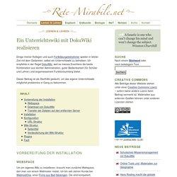 Ein Unterrichtswiki mit DokuWiki realisieren (Lernen & Lehren)