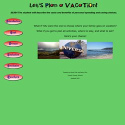 Plan Family Vacation Webquest
