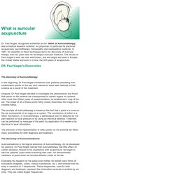 What is auricular acupuncture
