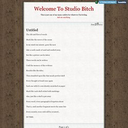 Welcome To Studio Bitch • Untitled