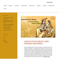 Interesting facts about Lord Krishna and Radha