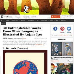 30 Untranslatable Words From Other Languages Illustrated By Anjana Iyer