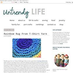 Rainbow Rug T-Shirt Yarn