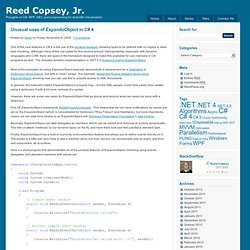 Unusual uses of ExpandoObject in C# 4 : Reed Copsey, Jr.