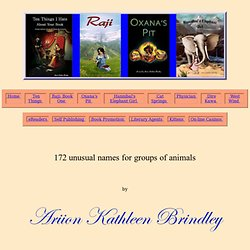 172 unusual names for groups of animals