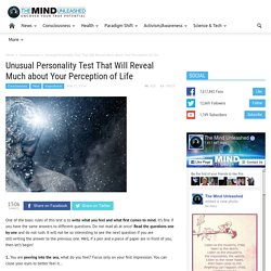 Unusual Personality Test That Will Reveal Much about Your Perception of Life