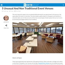 5 Unusual And Non Traditional Event Venues