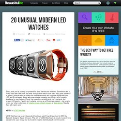 20 Unusual Modern LED Watches