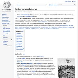List of unusual deaths - Wikipedia, the free encyclopedia - StumbleUpon