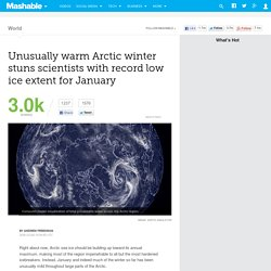 Unusually warm Arctic winter stuns scientists with record low ice extent for January