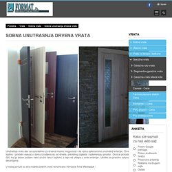 Sobna unutrasnja drvena vrata - Rakovica, Banjica