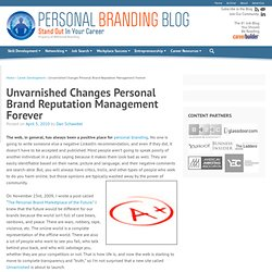 Unvarnished Changes Personal Brand Reputation Management Forever