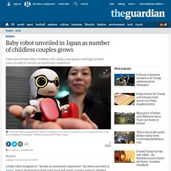 Baby robot unveiled in Japan as number of childless couples grows