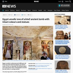 Egypt unveils 'one of a kind' ancient tomb with intact colours and statues
