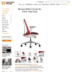 Herman Miller Unveils the SAYL Task Chair | Apartment Therapy Unplggd