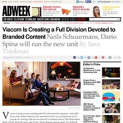 Viacom Unveils New Branded Content Division