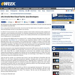 eXo Unveils New Cloud Tool for Java Developers - Application Development